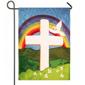 Faith Cross Garden Flag